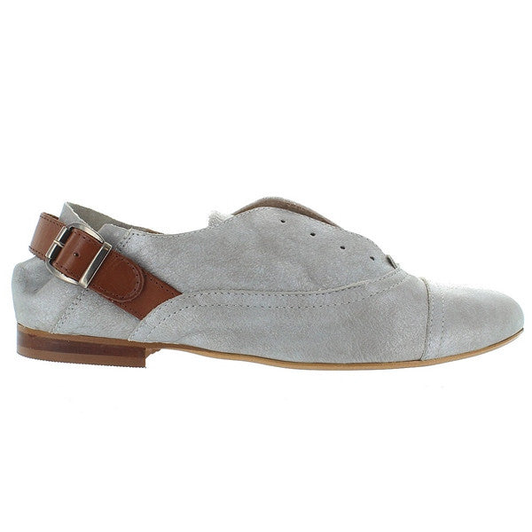 MTNG Kerry - Silver / Camel Slip-On Laceless Oxford