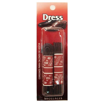 Dress Shoe Laces - Brown LCIUW-BRN - Size XS