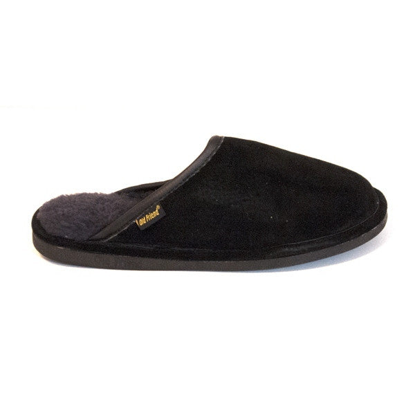Old Friend Scuff - Black Slipper