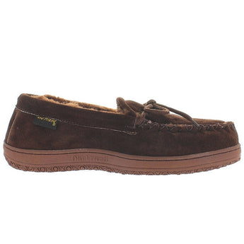 Old Friend Loafer Moccasin - Dark Brown Suede Slipper Moc