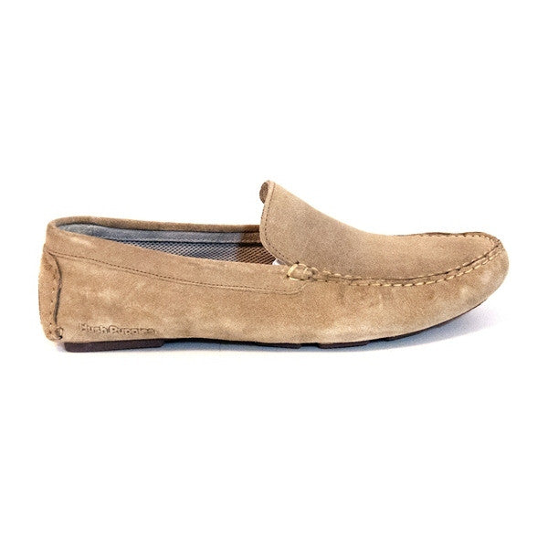 Hush Puppies Monaco Slip-On - Taupe Suede Loafer
