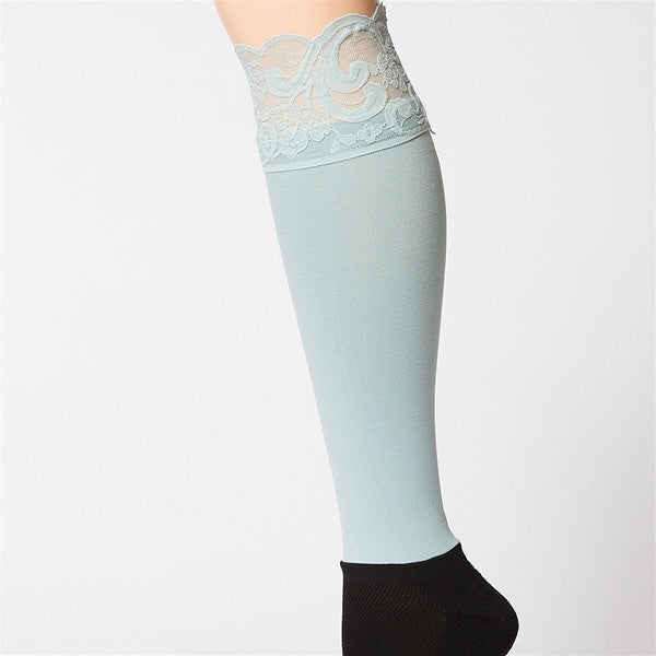 Bootights Darby Lacie Lace Knee-High/Ankle Sock - Rain 3712-400