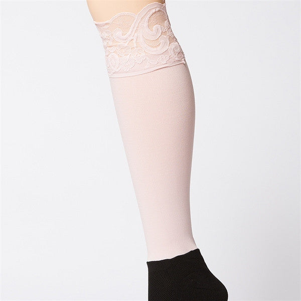 Bootights Darby Lacie Lace Knee-High/Ankle Sock - Blush