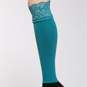 Bootights Darby Lacie Lace Knee-High/Ankle Sock - Turquoise