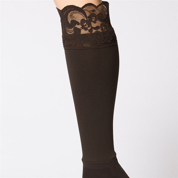 Bootights Darby Lacie Lace Knee-High/Ankle Sock - Chocolate 3712-300