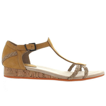 Wolverine 1000 Mile Tilly - Tan Leather T-Strap Wedge