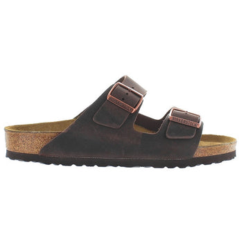Birkenstock Arizona - Habana Oiled Leather Dual Buckle Slip-On Footbed Sandal 52531 - Size 35