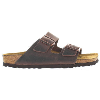 Birkenstock Arizona - Habana Olied Leather Dual Buckle Slip-On Footbed Sandal