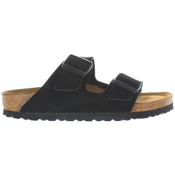 Birkenstock Arizona - Black Suede Dual Buckle Slip-On Footbed Sandal 951323
