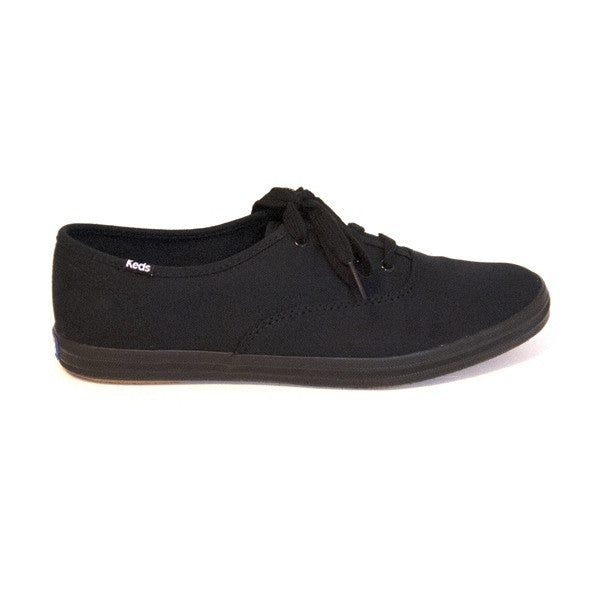 Keds Champion - Black Low-Top Canvas Sneaker