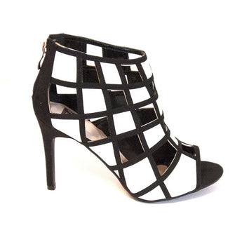 NYLA Juliet - Black / White Stilleto Pump