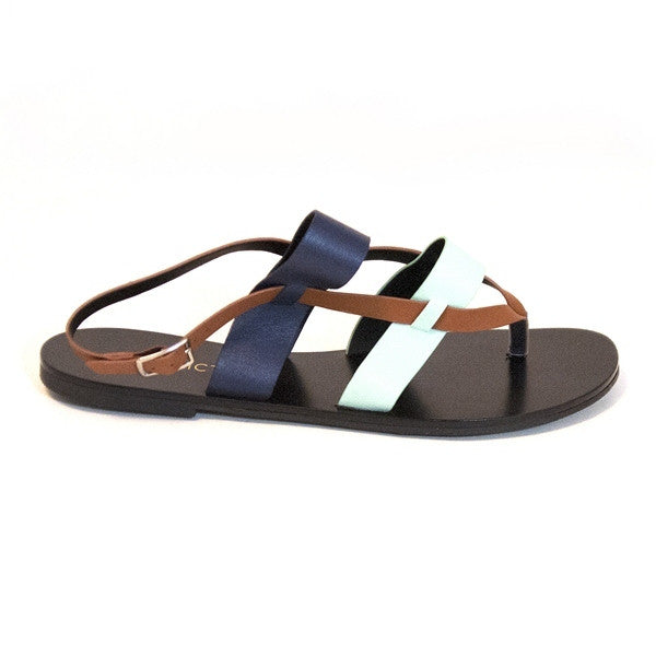 Restricted Toner - Brown Flat Sandal