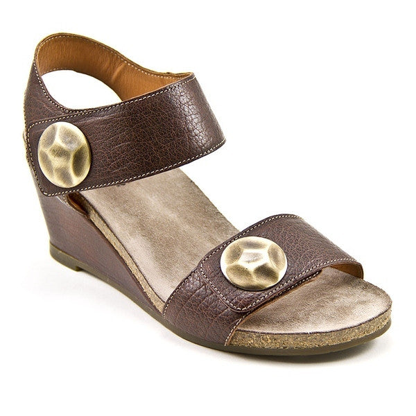 Taos Boardwalk - Brown Leather Wedge Sandal