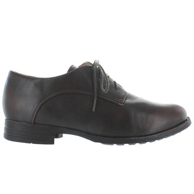 Chelsea Crew Bobby - Brown Lace-Up Flat Oxford