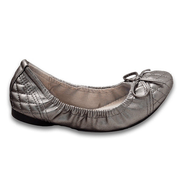 Wanted Shelli - Pewter Elasticized Quilted Ballet Flat