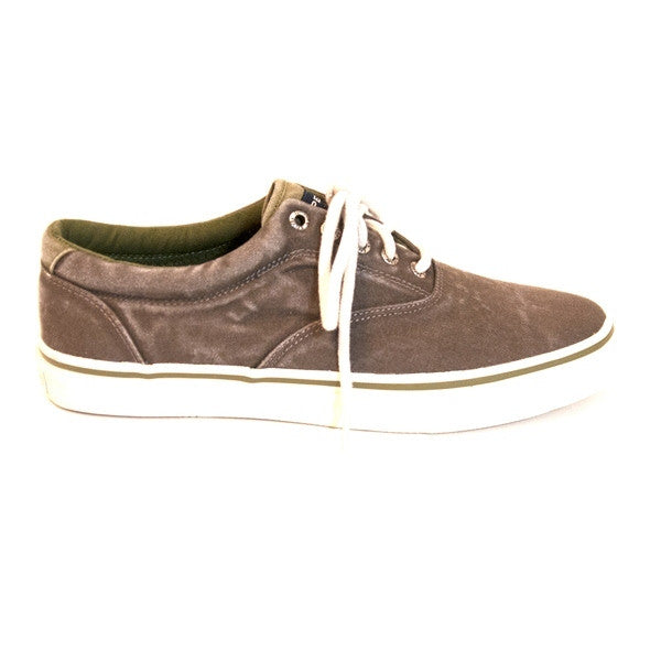 Sperry Top-Sider Striper Color - Ochoc/Olive Laceless Canvas Sneaker