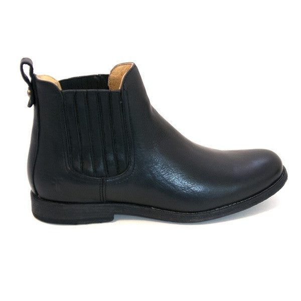 Frye Boot Phillip Chelsea - Black Short Pull-On Gore Boot