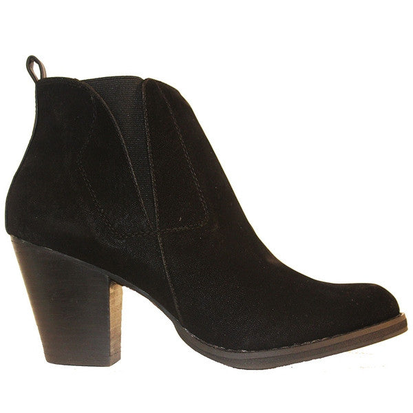 Chelsea Crew Halo - Black Short Western Style Bootie