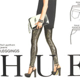 Hue Leggings - Foil Python Print Jean Leggings