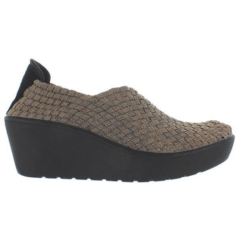 Steven Betsi - Bronze Elasticized Woven Fabric Wedge Shoe