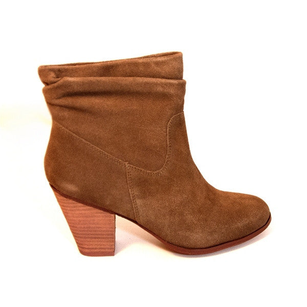 Chinese Laundry Under Cover - Latte Suede Short Mid-Heel Boot