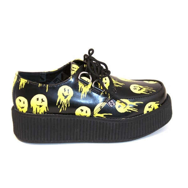 T.U.K. Mondo Creeper - Melty Smile Flat Chunky Platform Oxford