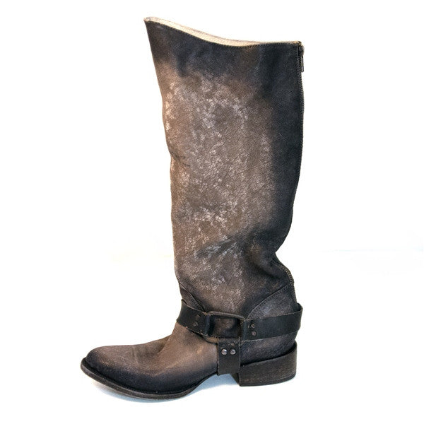 a954fd66a25 Freebird Philly - Grey Distressed Leather Tall Harness Western Boot