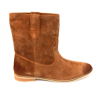 Matisse Coconuts Jed - Brown Flat Pull-On Western Style Boot JED-BRN