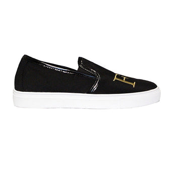 YRU Chill FU CK Mens - Black Slip-On Sneaker