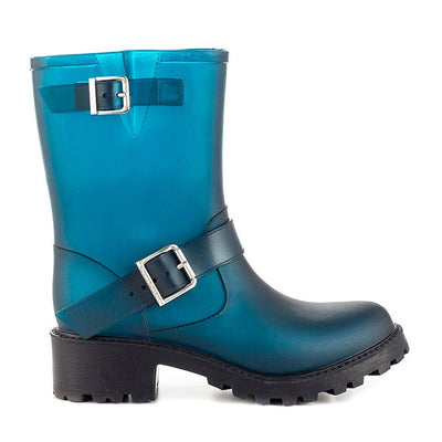 SixtySeven Billie - Indigo Rubber Engineer-Style Waterproof Rain Boot