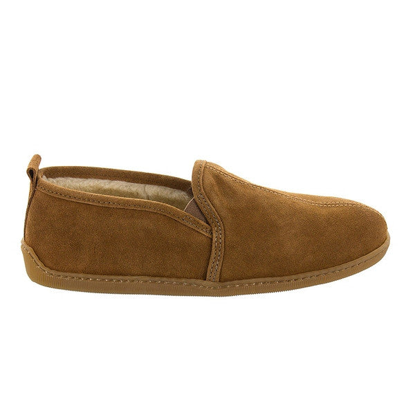 Minnetonka Romeo - Brown Suede Pile-Lined Slipper