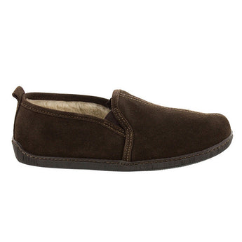 Minnetonka Romeo - Chocolate Suede Pile-Lined Slipper