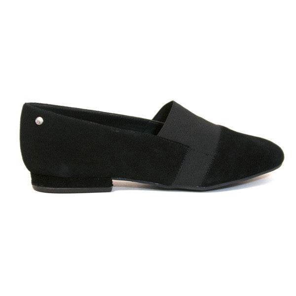 Bass Giovanna - Black Suede Slip-On Loafer