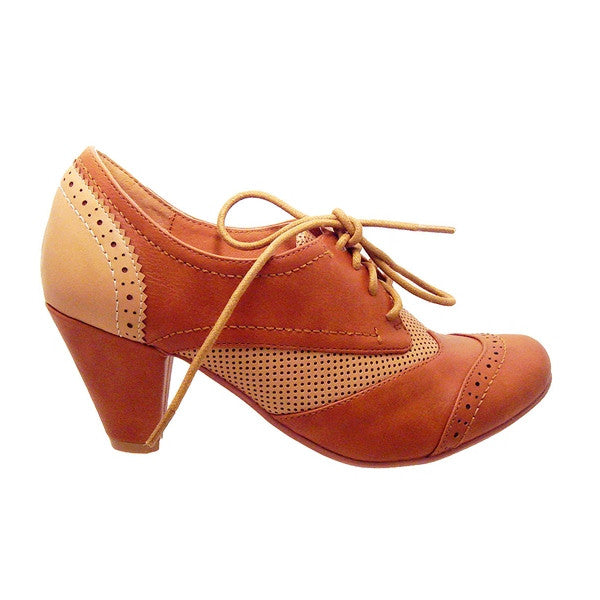 Chelsea Crew Matrix - Tan/Nude Mid-Heel Oxford