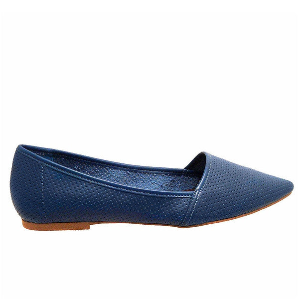 Chelsea Crew Gunner - Blue Perforated Slip-On Flat
