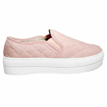 Wanted Railway - Pink Quilted Nylon Slip-On Platform Sneaker
