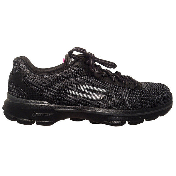 Skechers GOwalk 3 Lace-Up - Black Comfort Walking Sneaker