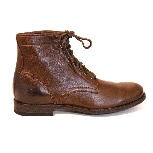 Frye Boot Tyler Lace-Up - Brown Leather Ankle Boot