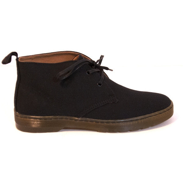 Dr. Martens Mayport - Black Twill Canvas Desert-Style Boot