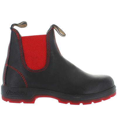 Blundstone 1316 - Black/Red Leather Pull-On Gore Boot