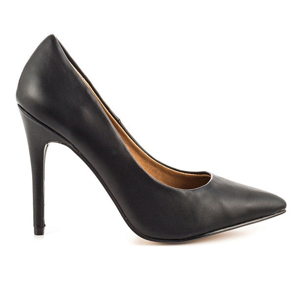 Chinese Laundry Neapolitan - Black Leather Pointed Toe Pump NEAPOLITIAN-BLK - Size 5 -