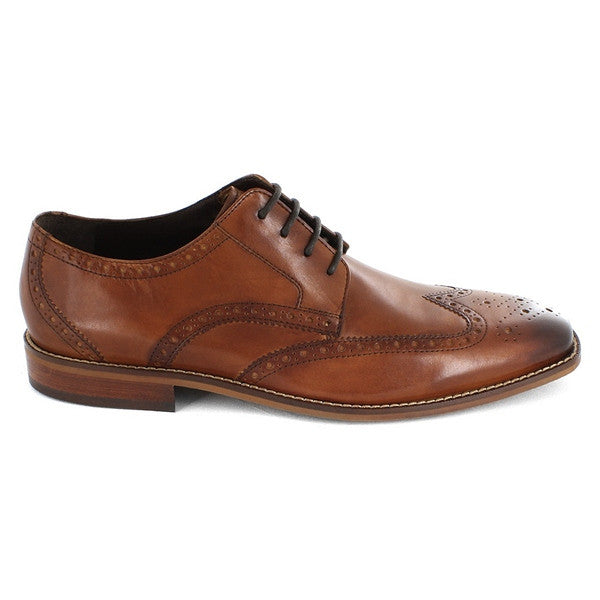 Florshiem Castellano Wing - Tan Leather Wing-Tip Saddle Oxford