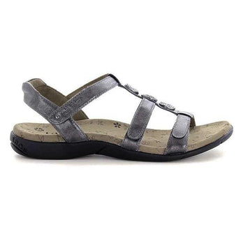 Taos Natural - Pewter Leather Footbed Sandal