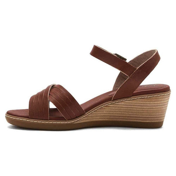 Timberland Earthkeepers Wollaston Light Brown Leather Wedge Sandal