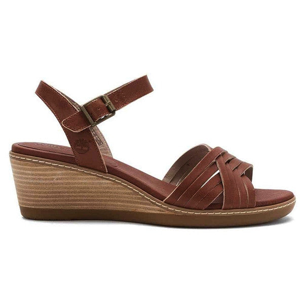 Timberland Earthkeepers Wollaston - Light Brown Leather Wedge Sandal