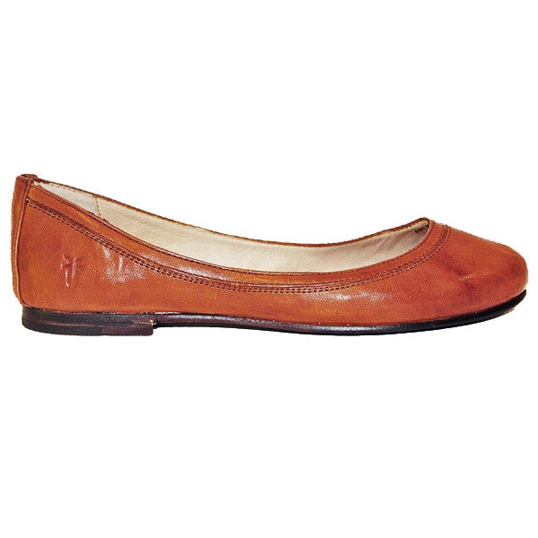 Frye Carson Ballet - Brown Leather Slip-On Flat