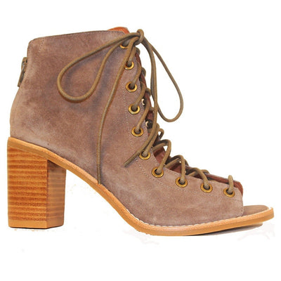 Jeffrey Campbell Cors - Taupe Suede Corset Bootie