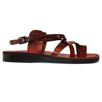 Jerusalem Good Shepherd Buckle - Brown Leather Shepherd Sandal 06-BRN