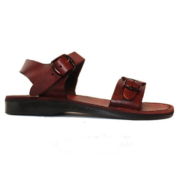 Jerusalem Original - Brown Leather Shepherd Sandal 01-BRN