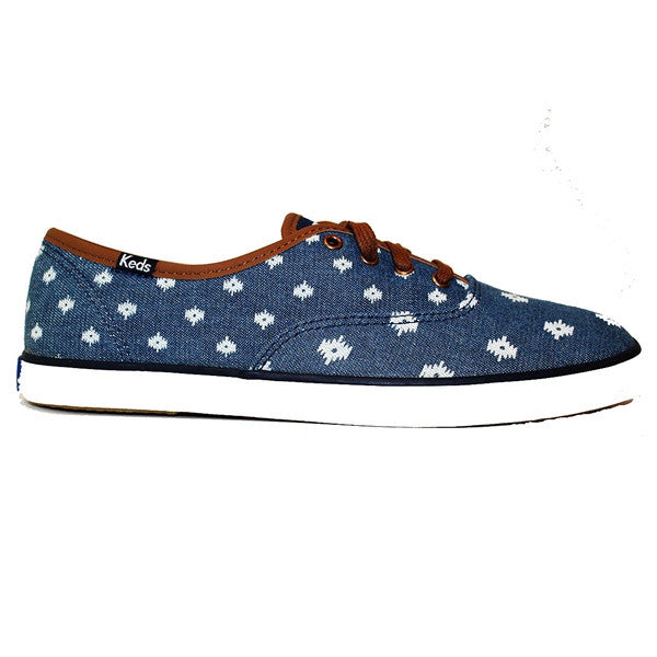 Keds Champion - Native Dot Indigo Canvas Low Profile Sneaker